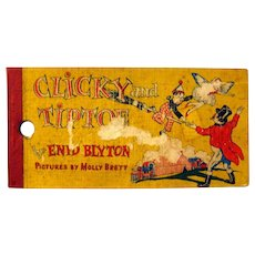 Enid Blyton Book Clicky and Tiptoe Vintage Childrens Book With Circus Illustrations
