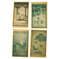 Faultless Starch Library Set Of Four Advertising Childrens Booklets Gentle Jane Mildred and Rosa Little Jack and Hans and Gretel