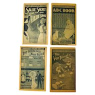 Advertising Premium Faultless Starch Set Of Four Childrens Booklets, ABC, Kids Books, Vintage Advertisement, Collectible Ephemera, Childrens Library