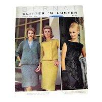 Bernat Glitter N Luster Pattern Book, Vintage Knitting Patterns, Needlcraft, Mid Century Fashion, Vintage Evening Dress