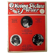 Moving Picture Stories Vintage Movie Magazine, 1920s Picture Show, Silent Movies, Early Talkies, Vintage Ads, Advertising, Motion Pictures