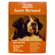 Dog Lovers Book The Complete Saint Bernard With Vintage Photographs 1960s Dog Guide Book