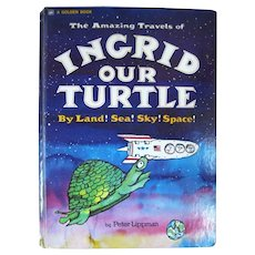 Collectible Childrens Book INGRID OUR TURTLE Scarce Vintage Kids Books A Golden Book