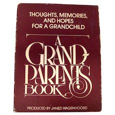 Memory Book for Grandparents A GRAND PARENTS BOOK Geneology Book Spiral Bound