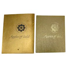 Inspirational Book APPLES OF GOLD by Jo Petty Vintage Gift Book