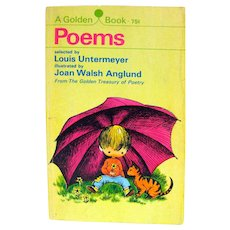 POEMS Illustrated by oan Walsh Anglund Paperback Poetry Collection For Children