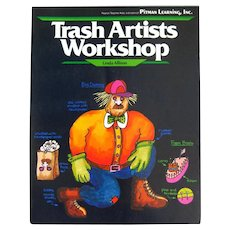 Childrens Art Book TRASH ARTISTS WORKSHOP Kid Activity Book With Craft Toy Patterns