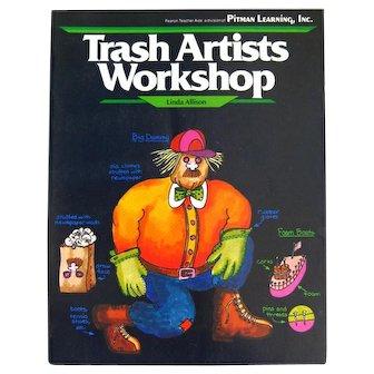 Childrens Art Book TRASH ARTISTS WORKSHOP Kid Activity Book With Craft Toy Patterns