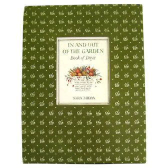 Garden Diary IN AND OUT OF THE GARDEN Book Of Days Garden Themed Diary With Colored Pencil Illustrations