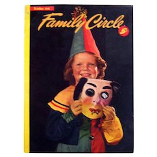 Halloween 1946 Edition of FAMILY CIRCLE Magazine - Vintage Periodical - Womens Vintage Magazine