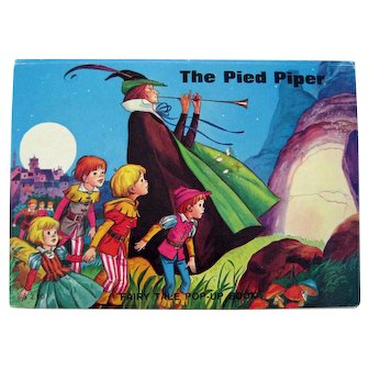 Pop Up Book THE PIED PIPER Made In Belgium Pop-Up Fairy Tale Book For Kids