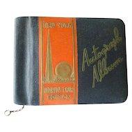 World Of Tomorrow 1939 WORLDS FAIR AUTOGRAPH ALBUM Memory Book For Cortelyou School Of New York