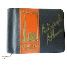 World Of Tomorrow 1939 WORLDS FAIR AUTOGRAPH ALBUM Memory Book For Cortelyou School Of New York