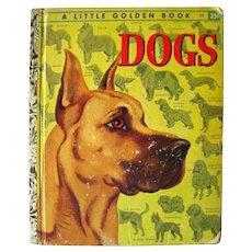 First Edition Little Golden Book DOG A Edition