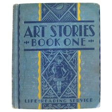 ART STORIES Early Scott Foresman Art Book With John Sargent and Norman Rockwell Illustration 1930s