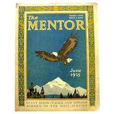 The Mentor June 1925 Vintage Magazine With Bird Articles - Art Magazine - History Magazine - Science Magazine