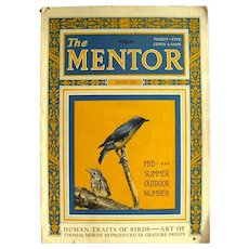 The Mentor Vintage Magazine August 1924 - Collectible Magazines - Nature Magazine - Art Magazine