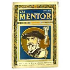 THE MENTOR October 1924 With John Singer Sargent Gravure Prints - Vintage Periodicals - Art Magazine
