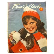 Family Circle Magazine February 1949 - Vintage Periodical - Womans Magazine