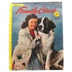 Family Circle Magazine March 1947 - Vintage Magazines - Vintage Periodical
