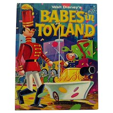 Walt Disney Productions BABES IN TOYLAND Vintage Childrens Book With Animation Cell Illustrations