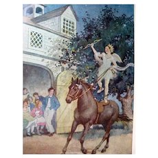 UNDER THE LILACS Louisa May Alcott Illustrated Orchard House Edition 1928 Collectible Books Out Of Print Book