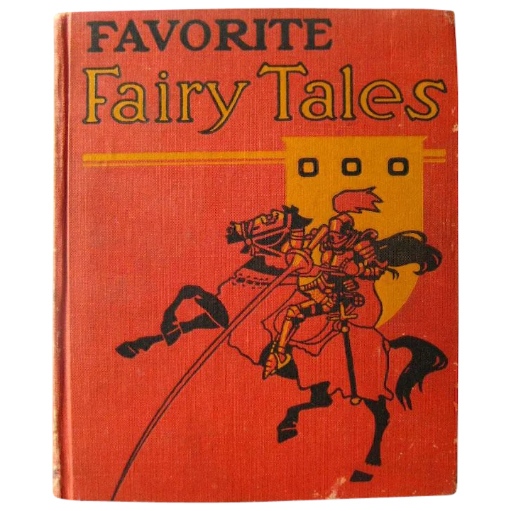 Antique Childrens Book FAVORITE FAIRY TALES 1892 Illustrated Kids Book  Collectible Childrens Literature
