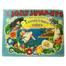 Pop Up Book The Jolly Jump Ups Robert Louis Stevenson A CHILDS GARDEN OF VERSES  Geraldine Clyne Illustrator Collectible Book