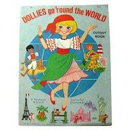 DOLLIES GO ROUND THE WORLD Vintage Paper Doll Book Uncut Vintage Paper Dolls