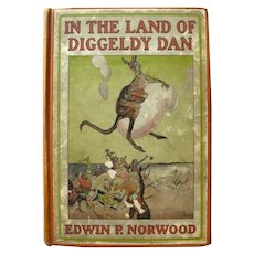 In The Lande Of Diggeldy Dan Children's Book Collectible Books Out Of Print Books Vintage Kids Books