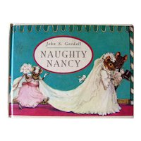 Vintage Childrens Picture Book Naught Nancy by John Goodall Collectible Books