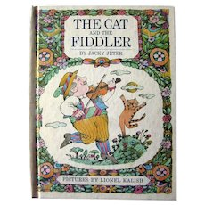 Parents Magazine Press Book THE CAT AND THE FIDDLER Vintage Kids Books
