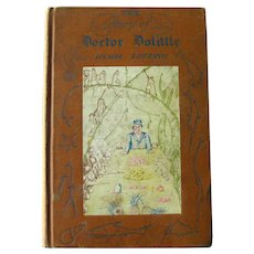 The Story of Doctor Dollittle RARE Childrens Book by Hugh Lofting Frederick Stokes Publisher 1922