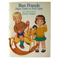 Vintage Paper Dolls BEST FRIENDS by Queen Holden Uncut Clothing - Dover Publications