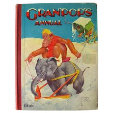 Lawson Wood Illustrated Book GRANPOPS ANNUAL 1940s Vintage Childrens Book
