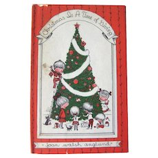 Christmas Is A Time Of Giving by Joan Walsh Anglund 1st Edition Collectible Holiday Book