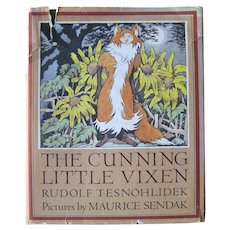 The Cunning Little Vixen Illustrated by Maurice Sendak Czech Folk Tale by Rudolf Tesnohlidek - Collectible Book - Stated 1st Edition