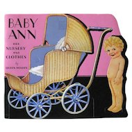 Queen Holden Paper Doll Collection BABY ANN And Her Nursery and Clothes - Vintage Paper Dolls Uncut