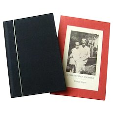 FIRST EDITION Truman Capote A Christmas Memory In Original Slip Case - Collectible Books