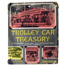 Trolley Car Treasury History Book - Black & White Photos - Mass Transit History