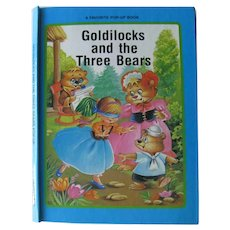 Vintage Pop Up Book Goldilocks and The Three Bears - Collectible Pop Up Books