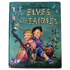 Elves and Fairies Giant Golden Book Scarce Vintage Children's Book - Children's Literature - Collectible Books