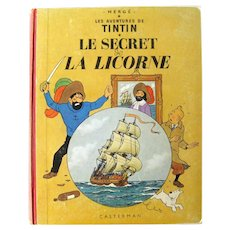 French Language Book The Adventures of Tintin Le Secret La Licorne - The Secret of the Unicorn - Vintage Graphic Novel