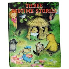 Golden Books THREE BEDTIME STORIES - Vintage Childrens Book - Storybook - Collectible Books