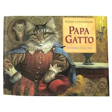 Italian Fairy Tale PAPA GATTO Collectible Children's Book - Cat Lover's Gift