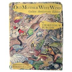 Old Mother West Wind Golden Anniversary Edition - Children's Literature Illustrated Book