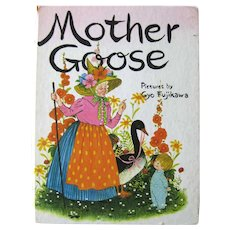 Gyo Fujikawa Illustrated MOTHER GOOSE Vintage Children's Book - Nursery Rhymes - Baby Gift