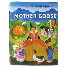 MOTHER GOOSE With Illustrations by Tenggren - Nursery Rhyme Book - Gift for Baby - Collectible Kid's Books