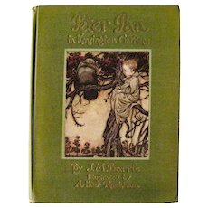 Peter Pan In Kinsington Garden by J M Berrie Illustrations by Arthur Rackham - RARE Collectible Children's Book