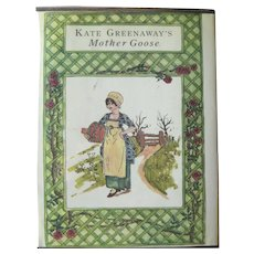Kate Greenaway's Mother Goose - Vintage Children's Book - Collectible Book